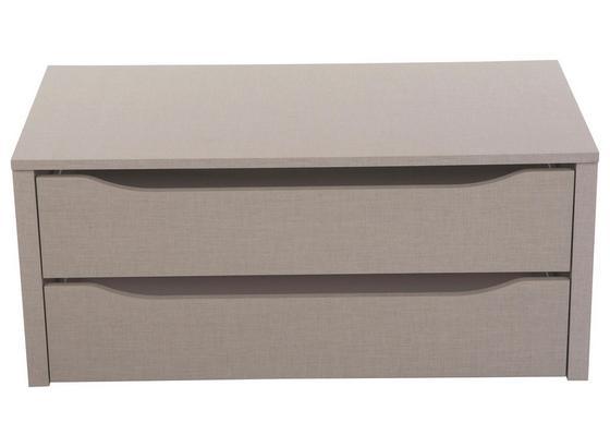 Schubkasteneinsatz mit 2 Laden - Grau, Holz (88/39/45cm) - Modern Living
