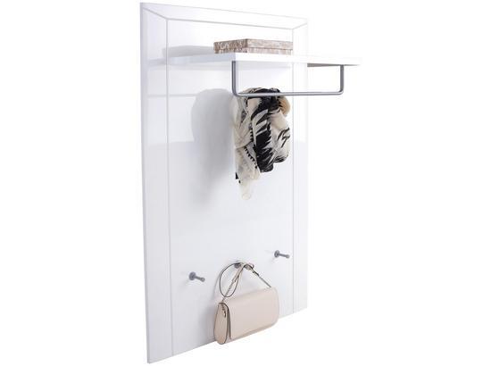 Garderobenpaneel Bree - Weiß, MODERN, Holzwerkstoff (85/123,5/30cm)