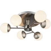 LED-Deckenleuchte Nela - Silberfarben/Opal, MODERN, Kunststoff/Metall (40,5/13cm)