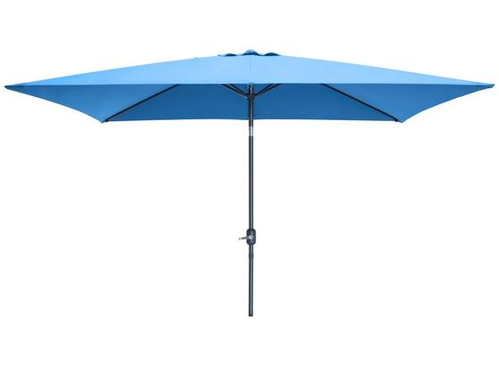 Slnečník Picolo - modrá/farby hliníka, kov/textil (300/245/200cm) - Modern Living