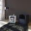 Beistelltisch mit Ablagefach Zeito, Weiß - Schwarz/Weiß, Basics, Holzwerkstoff (50/55/30cm) - Livetastic