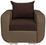 Sessel Faro B: 94cm - Chromfarben/Dunkelbraun, MODERN, Holz/Textil (94/90/92cm) - Ombra