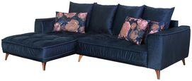 Sedací Souprava Belavio - tmavě modrá, Moderní, textilie (175/256cm)