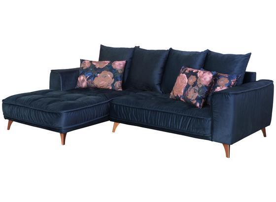 Sedacia Súprava Belavio - tmavomodrá, Moderný, textil (175/256cm)