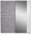 Schwebetürenschrank Stripe - Weiß/Grau, MODERN, Holz/Holzwerkstoff (180/198/64cm)