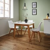 Jidelní Stůl Harry - bílá/barvy dubu, Moderní, dřevo/dřevěný materiál (90/75/90cm) - Mömax modern living