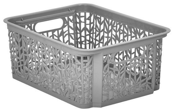 Úložný Košík Bamboo - sivá, umelá hmota (29/22/12cm) - Mömax modern living