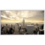 Infrarot Heizung 720 W City 120x60 cm, inkl. Thermostat - Weiß, Basics, Metall (119,5/59,5/1,6cm)