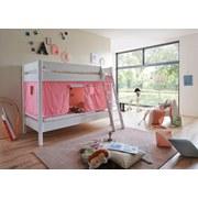 Spielvorhang 3-teilig Rosa/ Weiß - Rosa/Weiß, Design, Textil