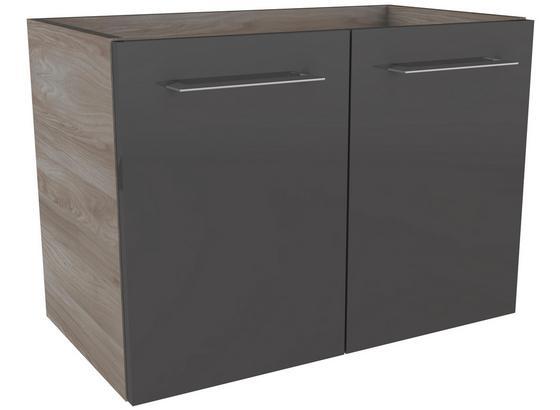Waschtischunterschrank mit Türdämpfer Lima B: 60 cm - Eschefarben/Grau, MODERN, Holzwerkstoff (60/42/35cm) - Fackelmann