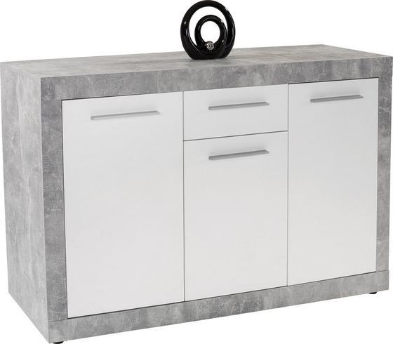 Tálalószekrény Strada - Fehér, konvencionális, Faalapú anyag (149/86/41cm)