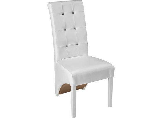Stuhl Marilyn - Weiß, KONVENTIONELL, Holz (47/105/66cm)