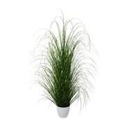 Kunstpflanze Grasbündel H: 120 cm Grün - Weiß/Grün, Trend, Kunststoff (120cm) - MID.YOU