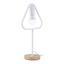 Stolová Lampa Mauricio - biela, Moderný, kov/drevo (18/15/30cm) - Modern Living