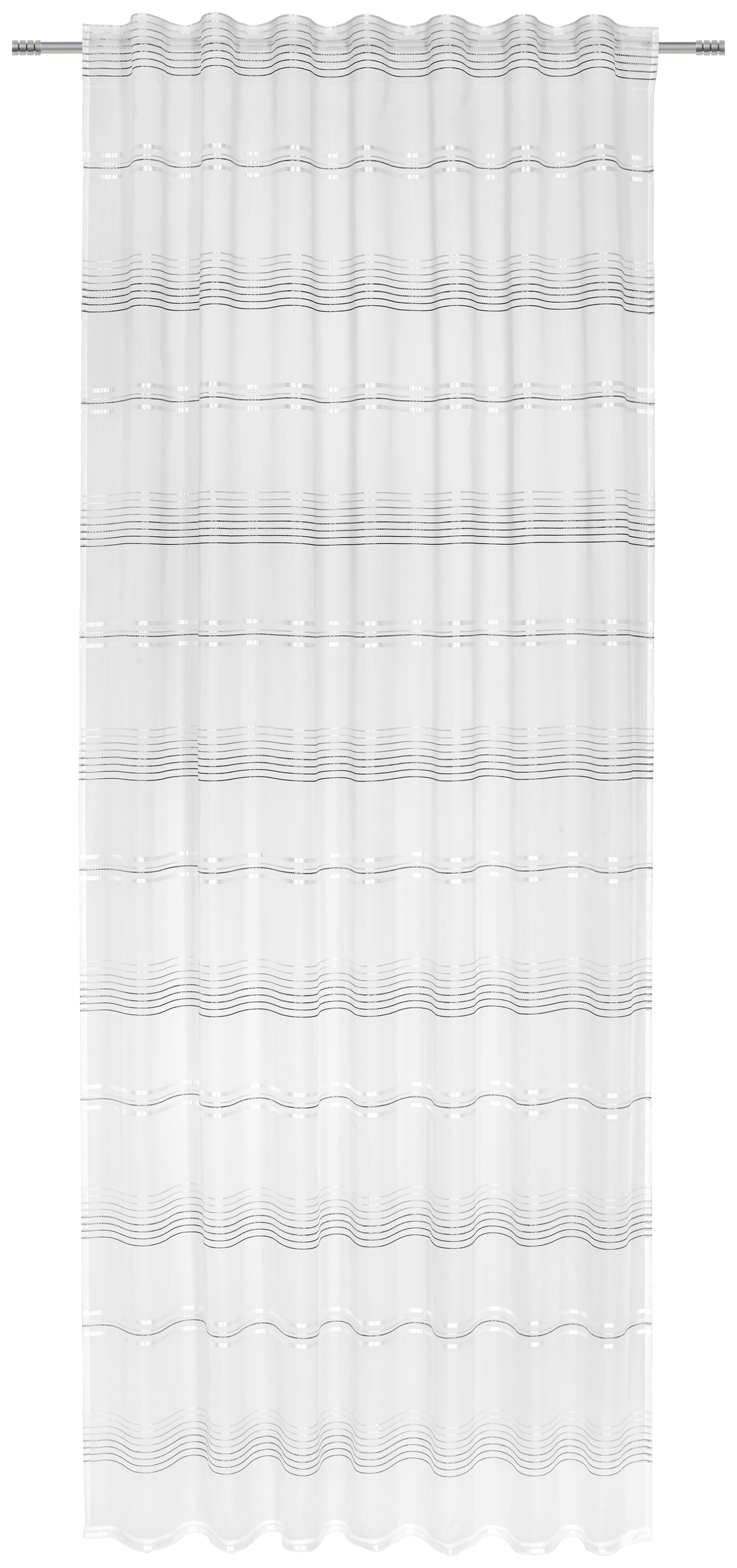 Záves Louis - sivá/biela, Konvenčný, textil (140/245cm) - MÖMAX modern living