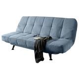 Schlafsofa mit Bettkasten Turino, Webstoff - Blau/Schwarz, Basics, Holzwerkstoff/Textil (208/102/98cm)