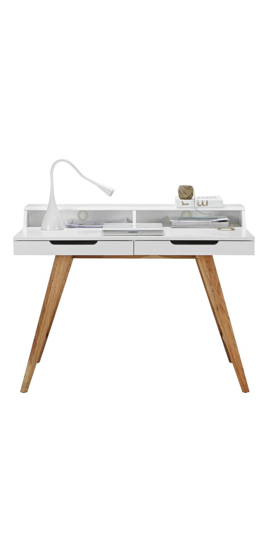 5ed7252629f3b Písací Stôl Durham - farby dubu/biela, Moderný, drevo/kompozitné drevo (