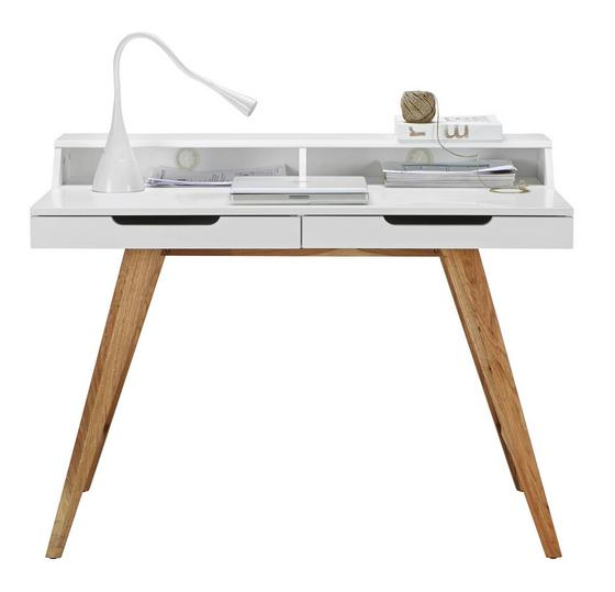 Písací Stôl Durham - hnedá/biela, Moderný, drevo/kompozitné drevo (110/85/58cm) - Mömax modern living
