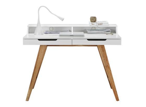 Psací Stůl Durham - bílá/barvy dubu, Moderní, dřevo/kompozitní dřevo (110/85/58cm) - Mömax modern living