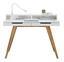 Psací Stůl Durham - bílá/hnědá, Moderní, dřevo/kompozitní dřevo (110/85/58cm) - Mömax modern living