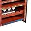 Weinregal Faro B: 75 cm Recyclingholz - Multicolor/Schwarz, Basics, Holz/Metall (75/85/40cm)