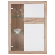 Wohnkombination Malta 3 - Eichefarben/Weiß, MODERN, Glas/Holzwerkstoff (329/197/42cm)