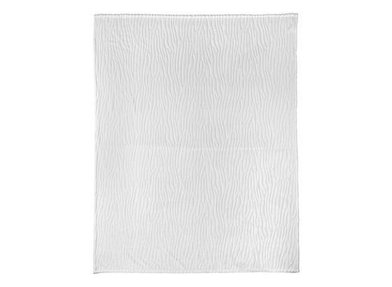 Decke Milo - Weiß, ROMANTIK / LANDHAUS, Textil (180/220cm) - James Wood