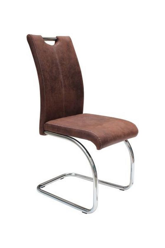 Houpací Židle Moni - tmavě hnědá, Moderní, kov/textilie (42,5/99,50/57cm)