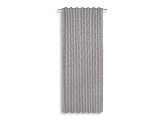Fertigvorhang Saskia - Silberfarben, MODERN, Textil - Luca Bessoni