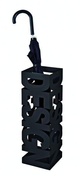Stojan Na Dáždnik Design - čierna, Moderný, kov (16/16/48cm)