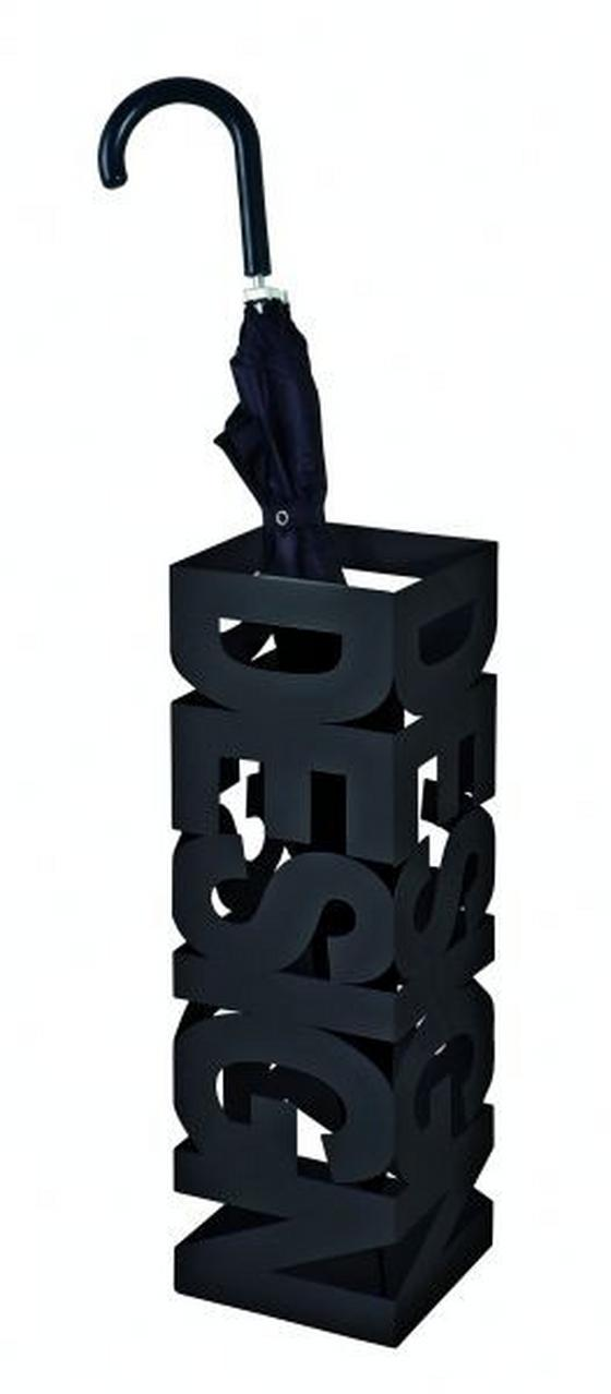Stojan Na Deštník Design - černá, Moderní, kov (16/16/48cm)