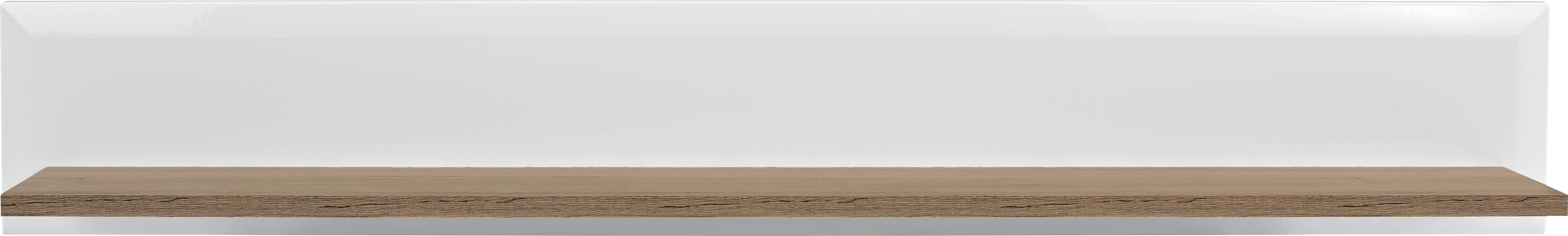 Falipolc Toronto - tölgy színű/fehér, modern, faanyagok (165/25/21cm) - OMBRA