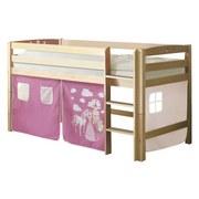 Hochbett Timmy R 90x200 cm Pink - Pink/Naturfarben, Natur, Holz (90/200cm) - MID.YOU