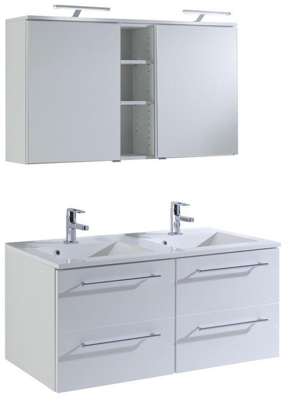 Badezimmer Mailand 120 cm Weiß - Weiß, MODERN, Holzwerkstoff/Kunststoff (120/47cm)