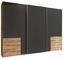 Schwebetürenschrank Level 36a 300cm Graphit/eiche - Eichefarben/Graphitfarben, MODERN, Holzwerkstoff (300/216/65cm)