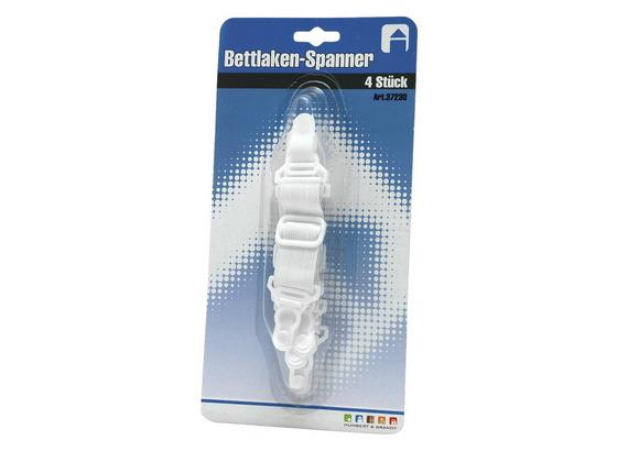 Betttuchspanner 37230 - Weiß, Basics, Kunststoff/Textil (19/4/3cm)
