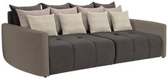 Bigsofa mit Schlaffunktion Bettkasten und Kissen Havanna - Taupe/Schlammfarben, MODERN, Textil (290/80/140cm) - Luca Bessoni