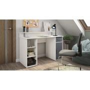 Schreibtisch mit Stauraum B 120cm H88cm Don Weiß/Anthrazit - Anthrazit/Weiß, Basics, Holzwerkstoff (120/88/55cm) - MID.YOU