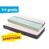 Komfortschaum- & Wendematratze Lifestyle H2 90x200 - Weiß/Grau, MODERN, Textil (200/90/21cm) - PRIMATEX