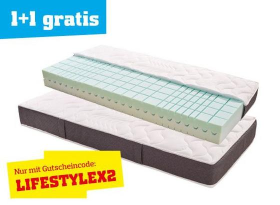 Rollbare Matratze komfortschaum wendematratze lifestyle h2 90x200 kaufen