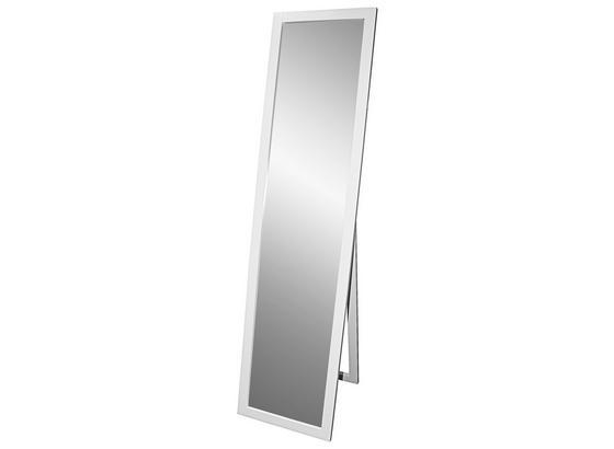 Stojacie Zrkadlo Meggy - biela, Moderný, drevo/kompozitné drevo (40/160/3,8cm)