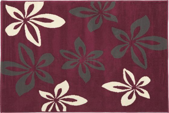 Szőnyeg Virág - viola, konvencionális, textil (160/225cm)