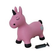 Hüpftier Einhorn Pink ca. 62/25/40cm - Pink/Silberfarben, Basics, Kunststoff (62/25/40cm)