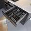 Rohová Kuchyňa Speed - čierna/bridlicová, Moderný, kompozitné drevo (287,5/227,5cm)