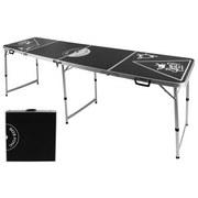Beer-Pong-Tisch Höhenverstellbar - Schwarz, Basics, Holzwerkstoff/Metall (60/54/76/240cm)