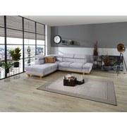 Wohnlandschaft In L-Form Imola 225x265 cm - Eichefarben/Silberfarben, MODERN, Textil (225/265cm) - Luca Bessoni