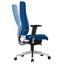 Drehstuhl B: 70 cm Blau - Blau/Alufarben, MODERN, Kunststoff/Textil (70/128/70cm) - Livetastic