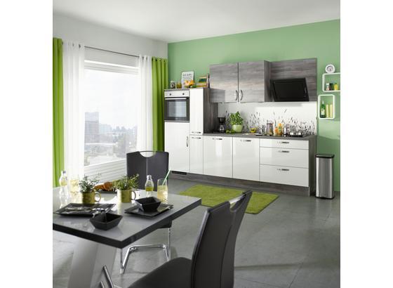 Küchenblock Pn220/Pn100 - Eichefarben/Weiß, MODERN, Holzwerkstoff (280cm) - Pino