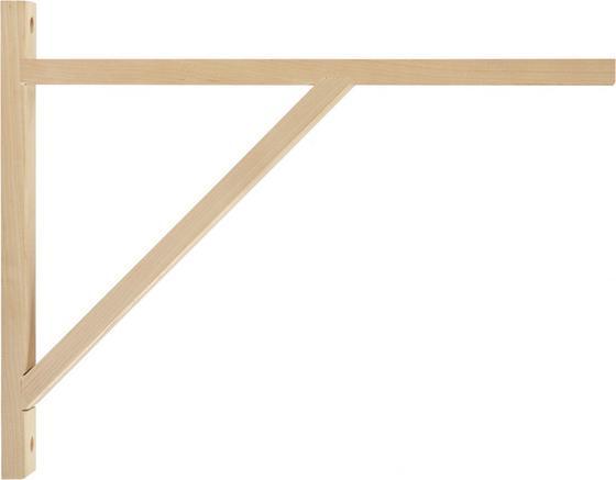 Nastěnný Držák Olaf 3 - barva břízy, Moderní, dřevo (42cm)