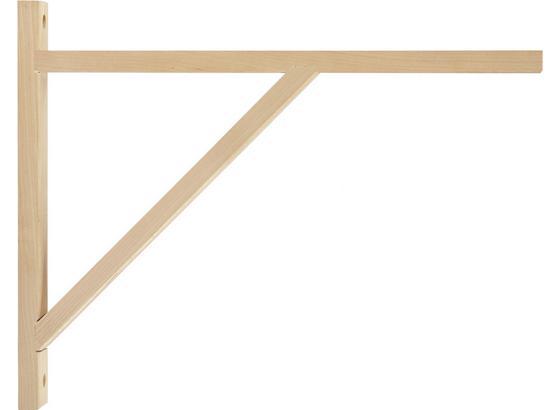 Nastěnný Držák Olaf 3 - barvy břízy, Moderní, dřevo (42cm)
